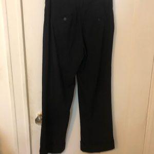 Trina Turk black wool trousers